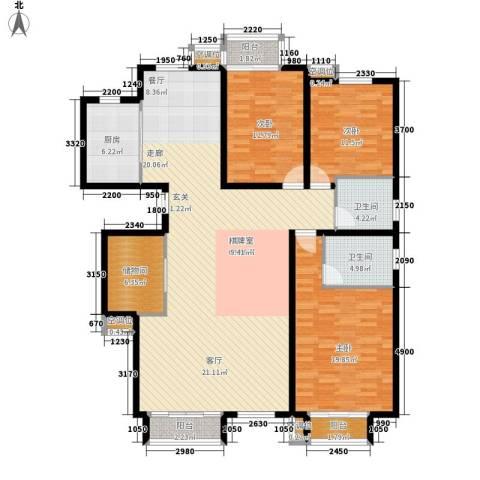 丰润帝景豪庭3室0厅2卫1厨177.00㎡户型图