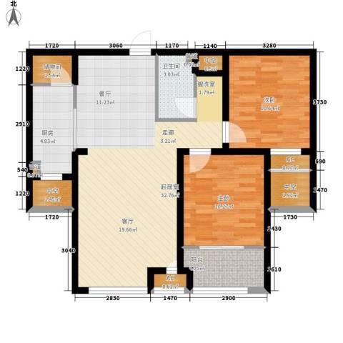 上东水郡2室0厅1卫1厨106.00㎡户型图