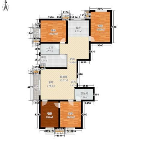 丰润帝景豪庭4室0厅2卫1厨178.00㎡户型图