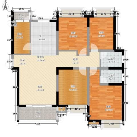 逸翠园4室1厅2卫1厨139.00㎡户型图