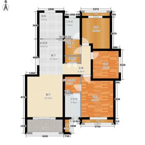 上东水郡3室0厅2卫1厨147.00㎡户型图