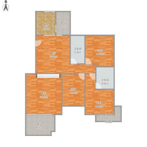 汇银奥林匹克花园3室2厅2卫1厨171.00㎡户型图