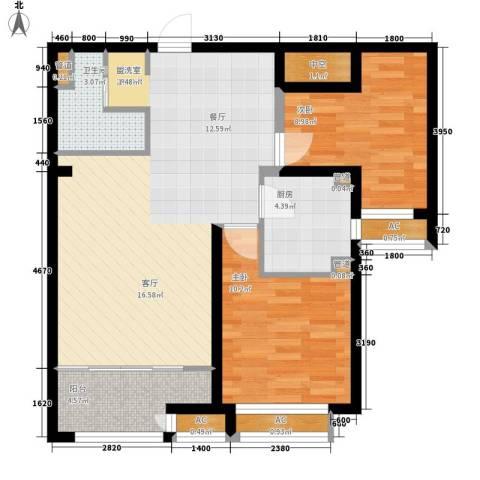 上东水郡2室0厅1卫1厨93.00㎡户型图