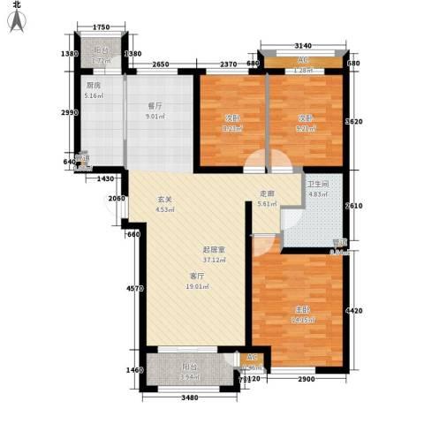 上东水郡3室0厅1卫1厨125.00㎡户型图