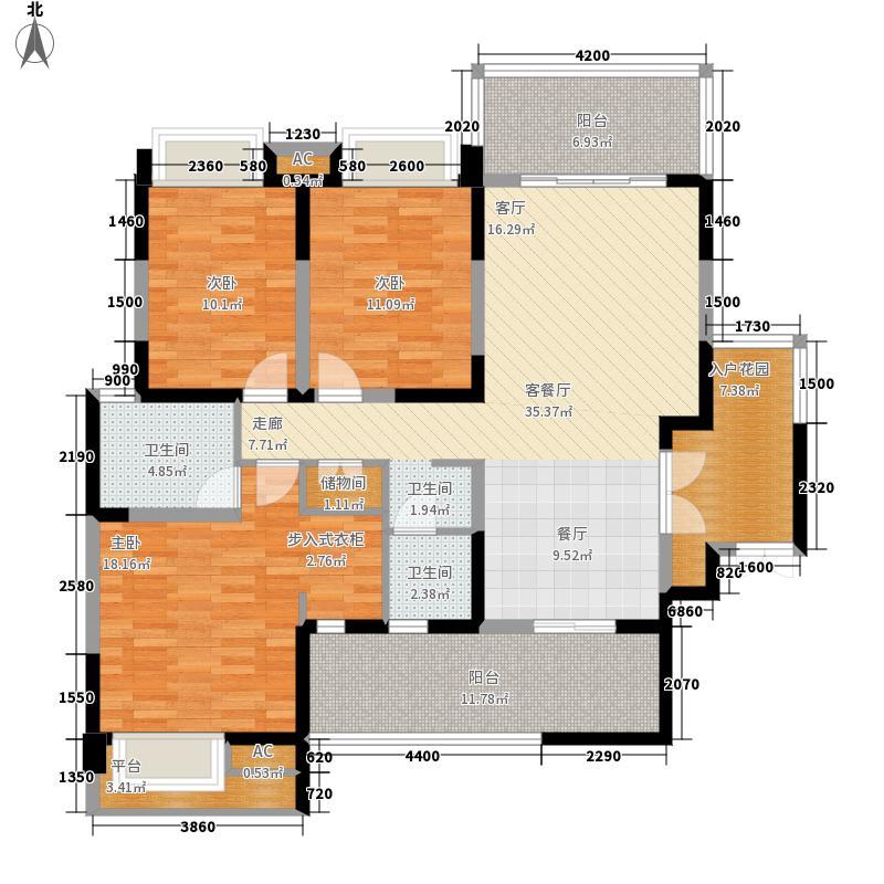 华润凤凰城132.73㎡2号楼H1型偶数层户型