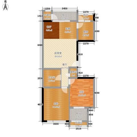 泰和小区2室0厅1卫1厨101.00㎡户型图