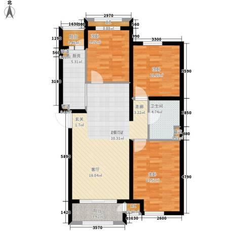 上东水郡3室0厅1卫1厨115.00㎡户型图