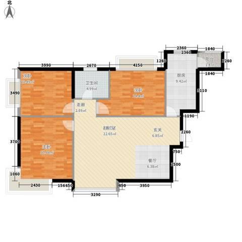 恒大名都3室0厅1卫1厨109.00㎡户型图