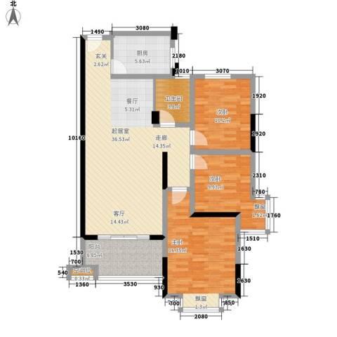 香缇溪岸3室0厅1卫1厨103.00㎡户型图