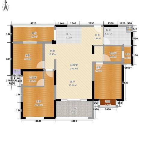 香缇溪岸3室0厅2卫1厨120.00㎡户型图