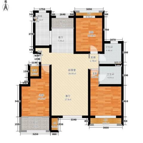 上东水郡3室0厅2卫1厨144.00㎡户型图