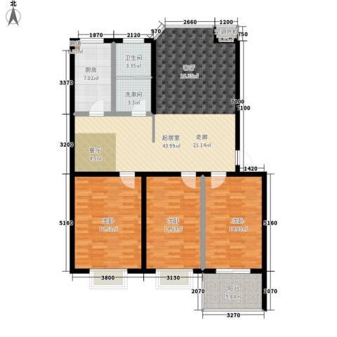 双龙居3室0厅1卫1厨124.00㎡户型图