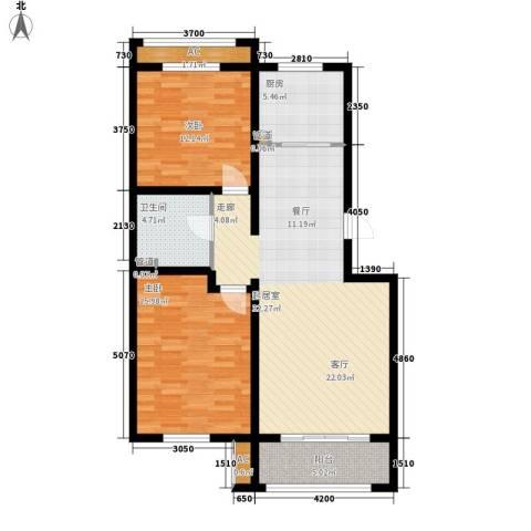 上东水郡2室0厅1卫1厨113.00㎡户型图