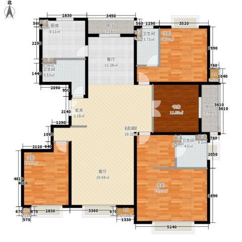 中建群贤汇4室0厅3卫1厨195.00㎡户型图