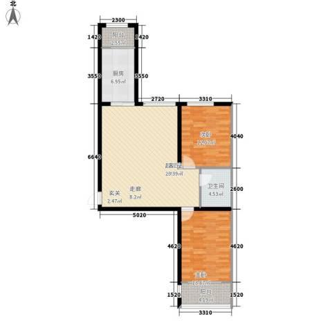 四季枫景2室0厅1卫1厨87.00㎡户型图
