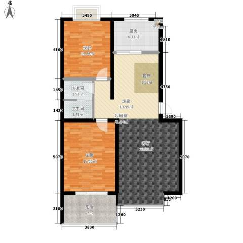 双龙居2室0厅1卫1厨101.00㎡户型图