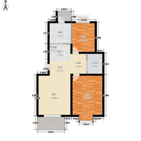 天琪雅居2室0厅1卫1厨98.00㎡户型图