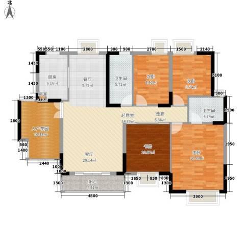 国税宿舍4室0厅2卫1厨150.00㎡户型图