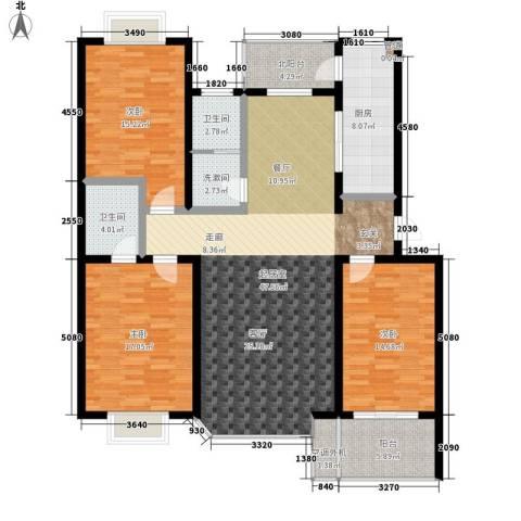 双龙居3室0厅2卫1厨139.00㎡户型图