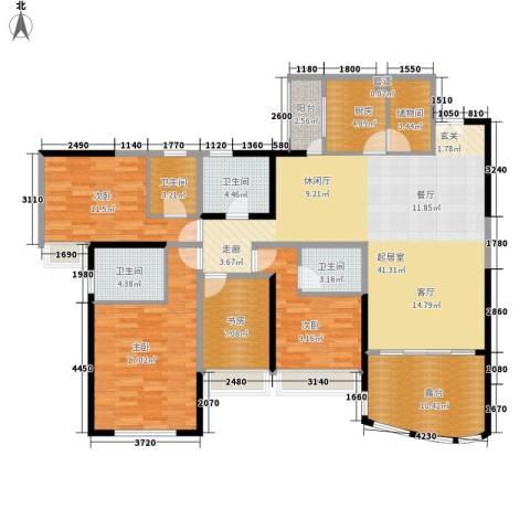 国税宿舍4室0厅4卫1厨140.00㎡户型图
