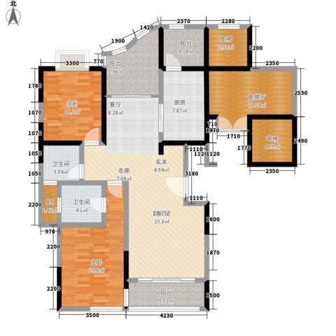凤凰港蓝宝湾花园2室0厅2卫1厨136.00㎡户型图