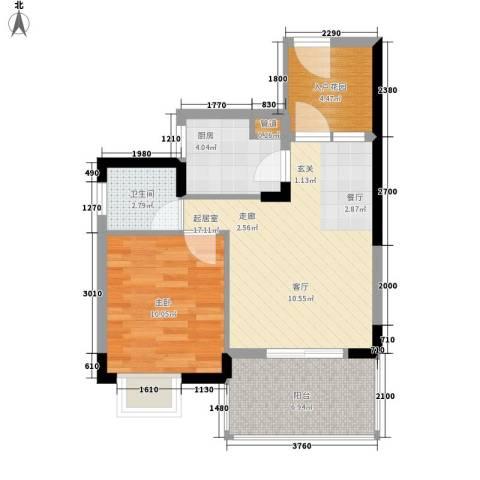 山海和湾1室0厅1卫1厨54.00㎡户型图