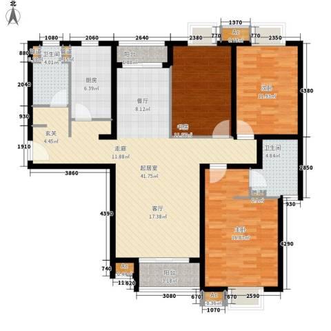 中建群贤汇3室0厅2卫1厨138.00㎡户型图