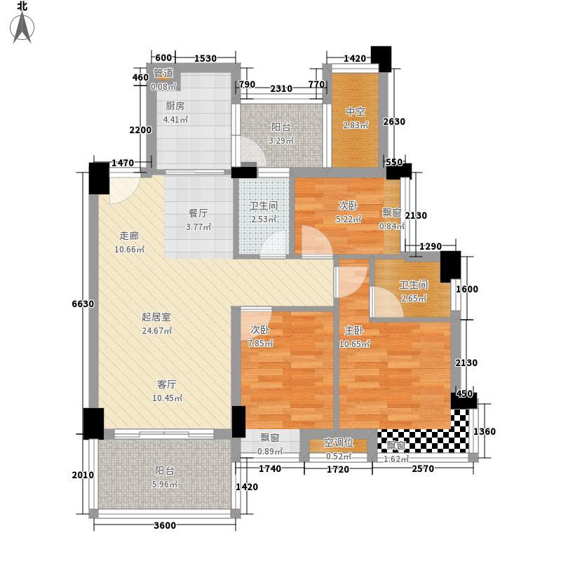 都市品格(福基苑)95.22㎡都市品格D栋01单元3室户型