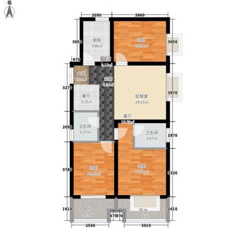 左岸春天3室0厅2卫1厨101.00㎡户型图