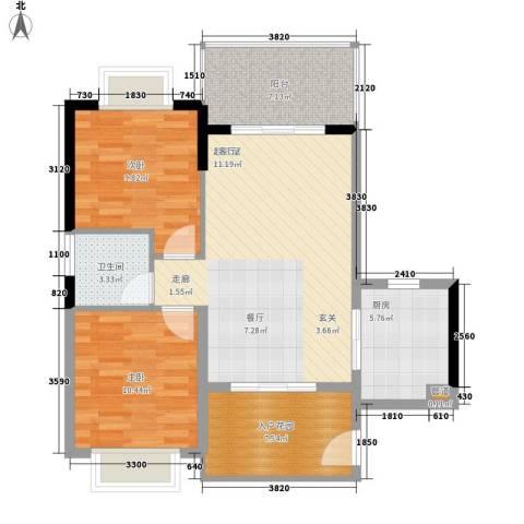 山海和湾2室0厅1卫1厨82.00㎡户型图