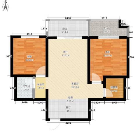 左邻右舍2室1厅1卫1厨82.00㎡户型图