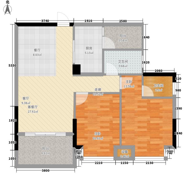 景源公园一号99.00㎡2号楼2单元B2室户型