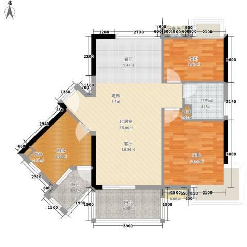 可逸豪苑2室0厅1卫1厨100.00㎡户型图