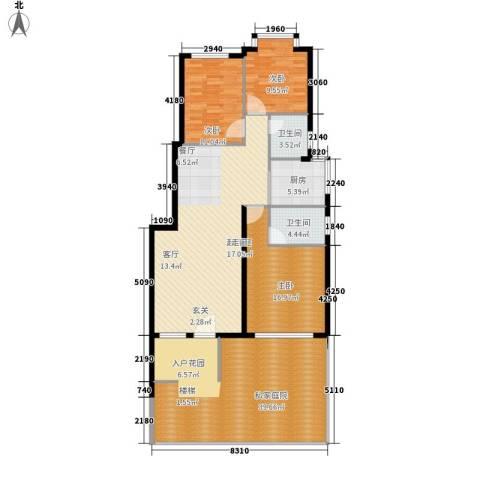 鸿坤理想海岸3室0厅2卫1厨175.00㎡户型图
