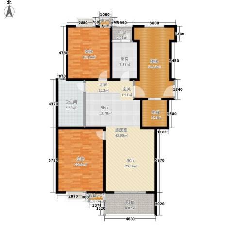 苏宁馨瑰园2室0厅1卫1厨151.00㎡户型图