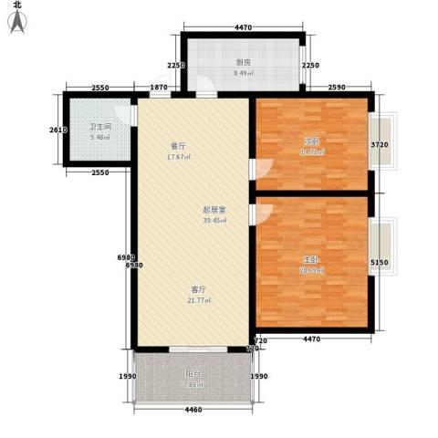 华城大厦2室0厅1卫1厨108.00㎡户型图