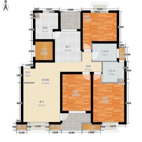 闻涛苑3室0厅2卫1厨159.00㎡户型图