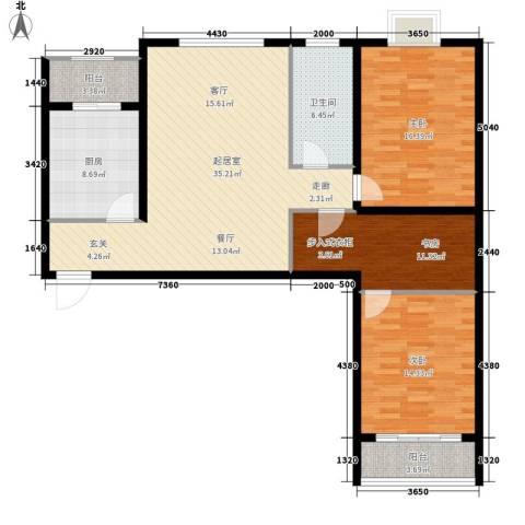 万锦花语岸3室0厅1卫1厨112.00㎡户型图