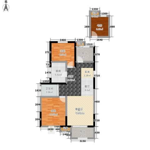景瑞望府3室1厅1卫1厨89.00㎡户型图