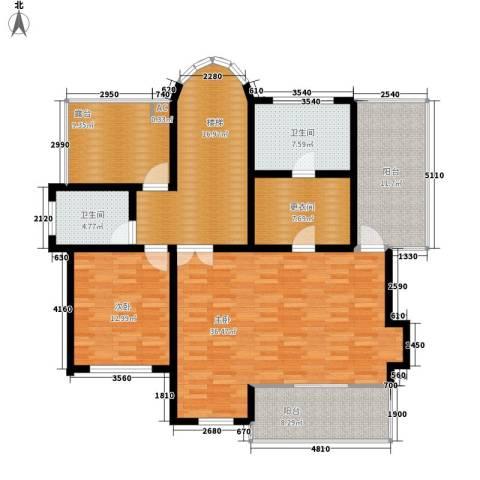 碧海花园2室0厅2卫0厨163.00㎡户型图