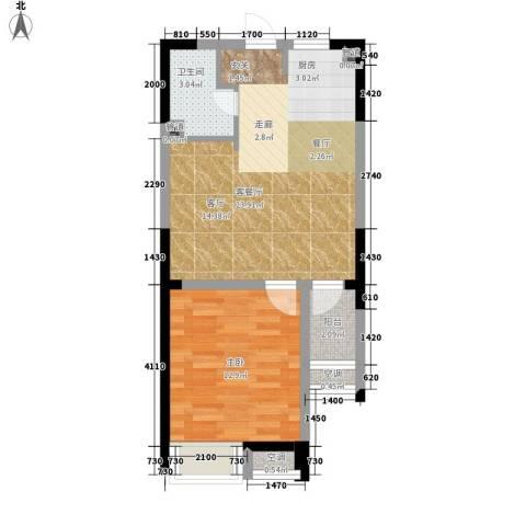 今创启园1室1厅1卫0厨50.00㎡户型图