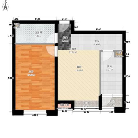 祥和里1室0厅1卫1厨58.00㎡户型图