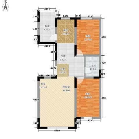 泰富苑2室0厅1卫1厨112.00㎡户型图