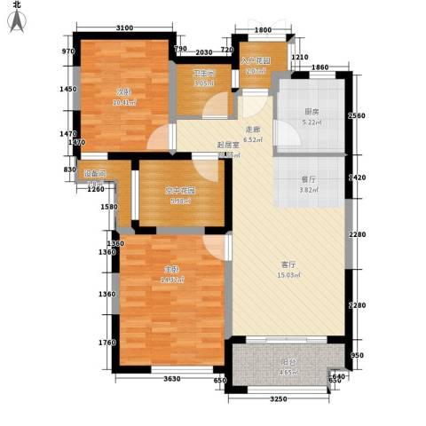 复地优尚国际2室0厅1卫1厨85.00㎡户型图
