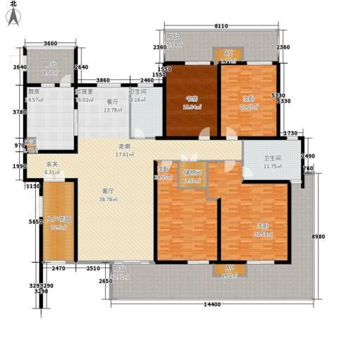 青湖丽苑4室0厅2卫1厨320.00㎡户型图