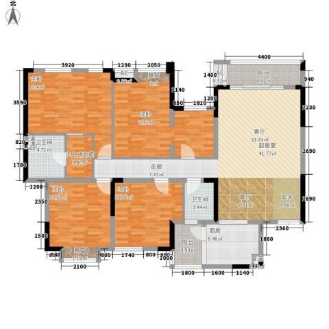 綦江银海新城4室0厅2卫1厨190.00㎡户型图
