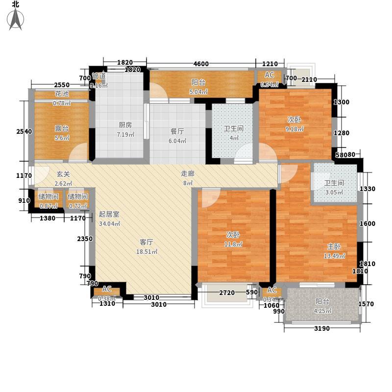 首开悦澜湾115.00㎡22#A4面积11500m户型