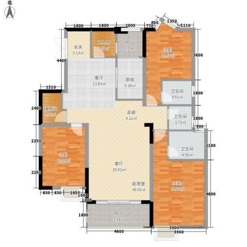 国税宿舍3室0厅3卫1厨150.00㎡户型图