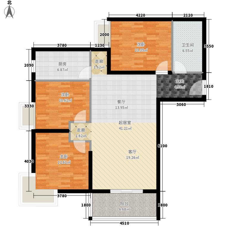 雅苑东方109.50㎡1、2号楼A面积10950m户型