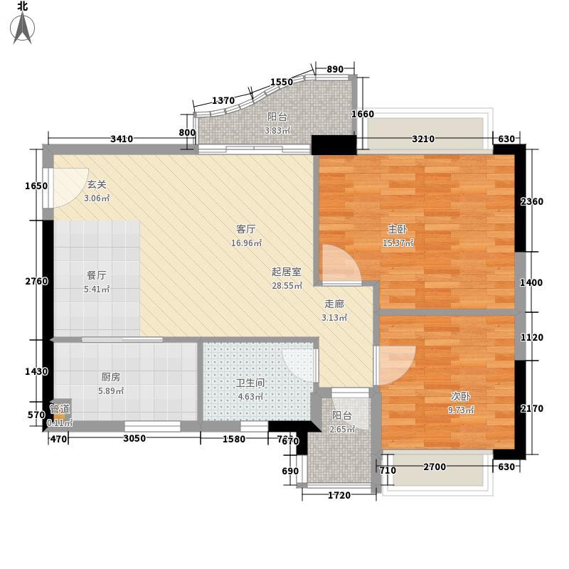 阳光假日园75.87㎡A3标准层06单面积7587m户型